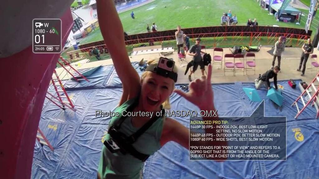 GoPro Athlete Tips and Tricks! Sierra Blair-Coyle demonstrates her favorite mounts and shooting modes for climbing.  Source: http://facebook.com/gopro (12.07.2014)