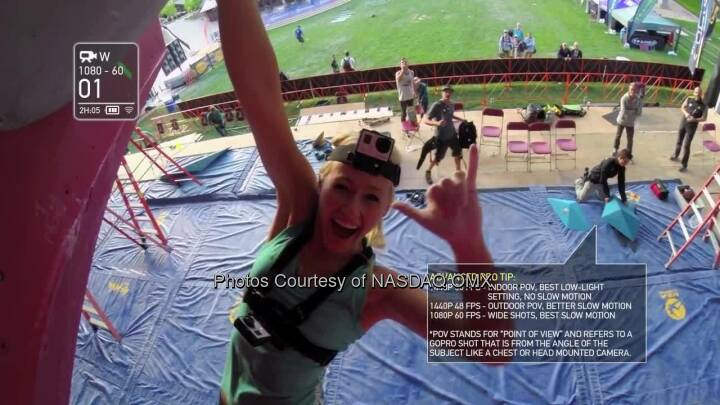 GoPro Athlete Tips and Tricks! Sierra Blair-Coyle demonstrates her favorite mounts and shooting modes for climbing.  Source: http://facebook.com/gopro