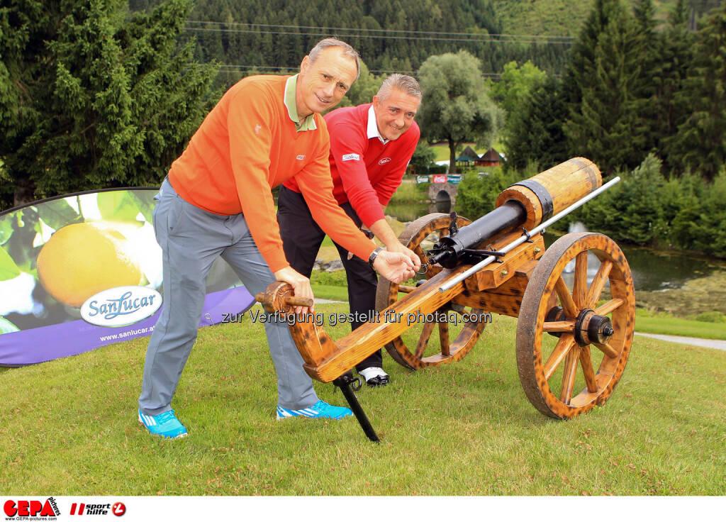 Anton Schutti (Sporthilfe) und Alexander Thaller (San Lucar). Photo: GEPA pictures/ Christian Walgram (12.07.2014)