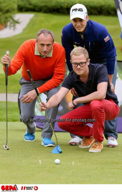 Anton Schutti (Sporthilfe), Matthias Schwab (AUT) und Martin Angerer. Photo: GEPA pictures/ Christian Walgram (12.07.2014)