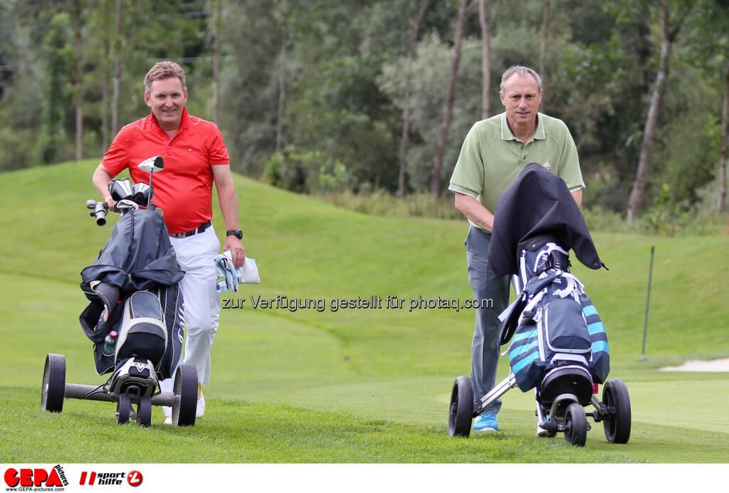 Werner Knausz (ARA) und Anton Schutti (Sporthilfe). Photo: GEPA pictures/ Christian Walgram (12.07.2014)