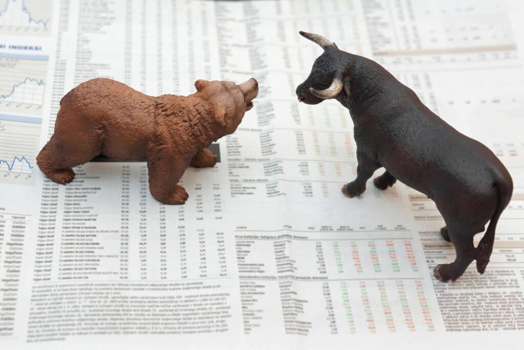 bull und bär, bull & bär, Bulle, Bär, Börse, http://www.shutterstock.com/de/pic-162622502/stock-photo-concept-of-stock-market.html (Bild: shutterstock.com) (13.07.2014)