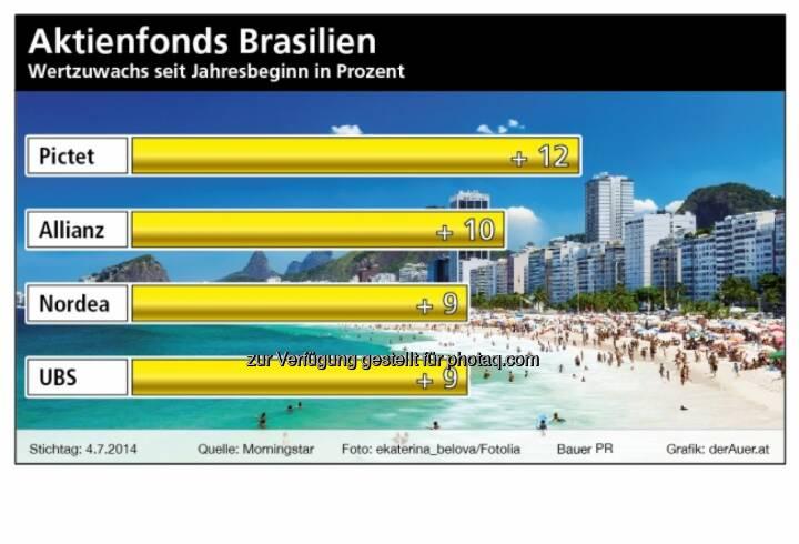 Aktienfonds Brasilien: Pictet, Allianz, Nordea, UBS (c) derAuer Grafik Buch Web (28.12.2013)