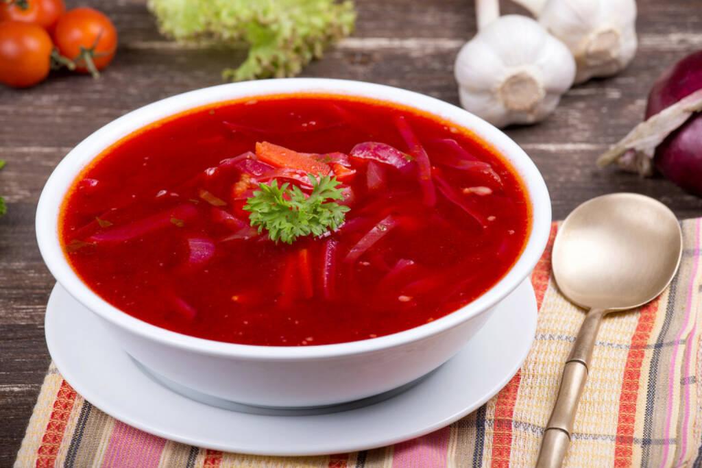 Borsch, Bortsch, Russland, Suppe, roten Rüben, food, http://www.shutterstock.com/de/pic-152257982/stock-photo-ukrainian-and-russian-national-red-borsch.html , © www.shutterstock.com (13.07.2014)