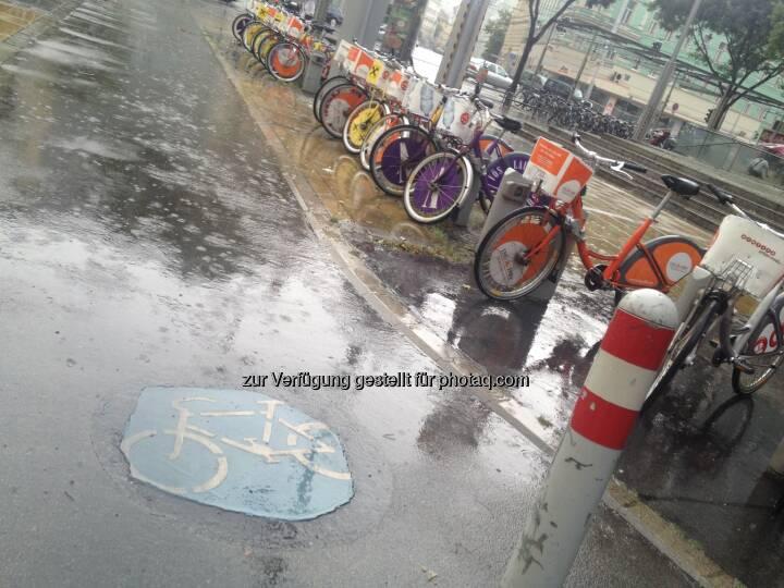Fahrrad, Fahrräder im Regen