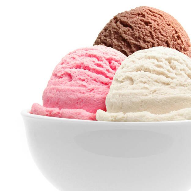 Eis, Eiscreme, süß, Sommer, kalt, Erfrischung, frieren, eiskalt, http://www.shutterstock.com/de/pic-57134731/stock-photo-ice-cream-in-bowl-with-three-scoops-of-chocolate-strawberry-and-vanilla.html? , © www.shutterstock.com (14.07.2014)