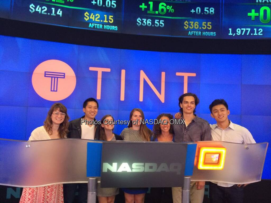 Thanks for stopping by #NASDAQ Tint team! You guys are the best:-D  Source: http://facebook.com/NASDAQ (15.07.2014)