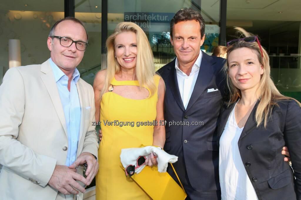Reinhold Gmeinbauer (Medecco Holding), Andrea Tassul und Thomas Koblmüller (Chopard), Petra Percher (Die Presse), © Medecco Holding (17.07.2014)