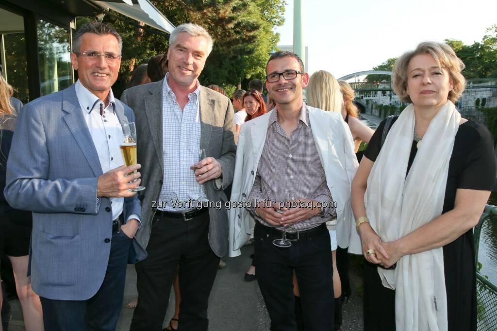 Karl Grasl (Druckerei Grasl), Matthias Boeckl (architektur.aktuell), Silvie Aigner (Parnass), © Medecco Holding (17.07.2014)