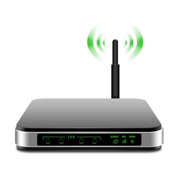 WLAN Router, Antenne, WIFI, Internet, Netzwerk http://www.shutterstock.com/de/pic-168956426/stock-photo--wireless-router-with-the-antenna-illustration.html (19.07.2014)