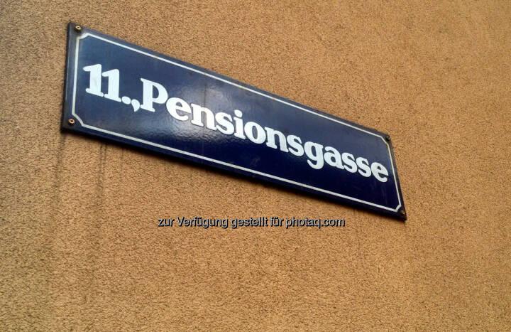 Pension, Pensionen, Pensionsgasse