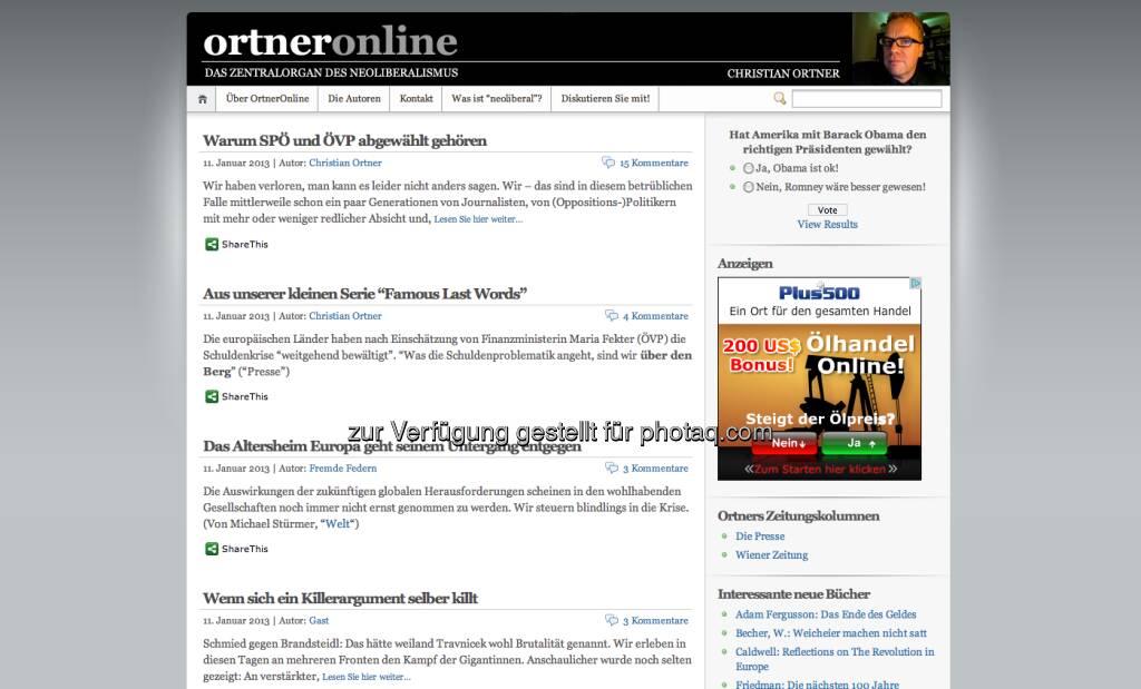http://www.ortneronline.at/: Einer der besten Blogs Österreichs (11.01.2013)