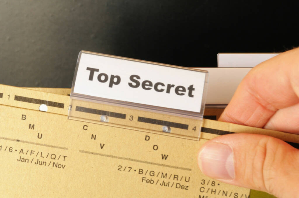 top secret, geheim, Spion, Spionage, erstock.com/de/pic-66675274/stock-photo-top-secret-folder-or-file-in-a-business-office.html? , © (www.shutterstock.com) (21.07.2014)