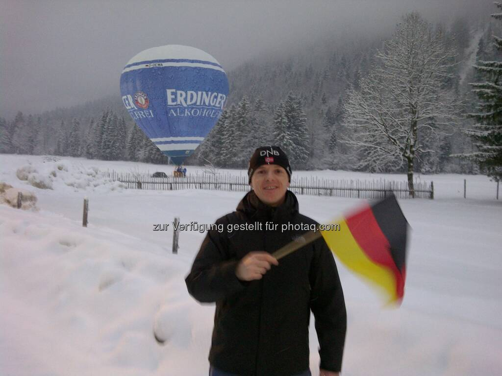 Jänner: Christian-Hendrik Knappe, db-X markets, beim Biathlon-Weltcup in Ruhpolding (12.01.2013)