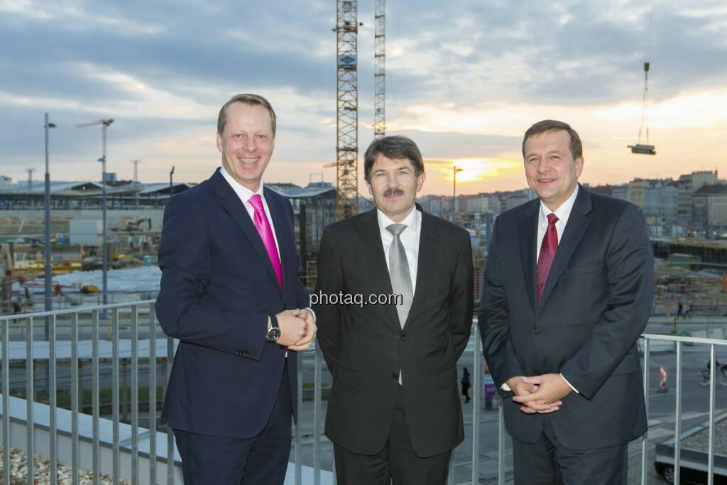 Friedrich Wachernig (S Immo), Ernst Vejdovszky (S Immo), Holger Schmidtmayr (S Immo) , © Martina Draper (15.12.2012)