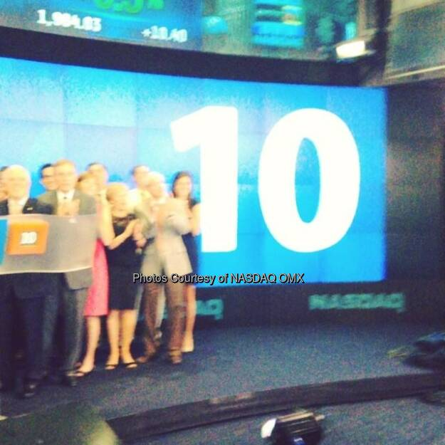 10 - Peoples Financial Services Corp. rings the #NASDAQ Closing Bell! $PFIS  Source: http://facebook.com/NASDAQ (23.07.2014)