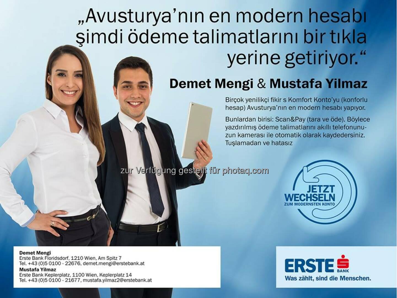Erste Bank Demet Mengi Mustafa Yilmaz Türkce Müsteri Temsilciler