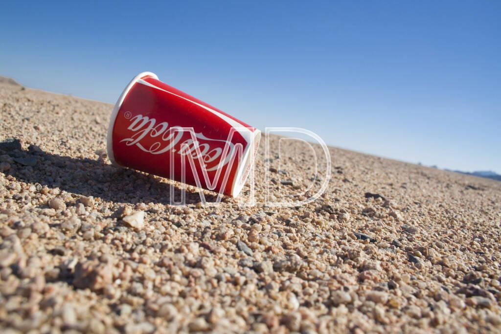 Coca-Cola Becher, Marsa Alam, Ägypten, © Martina Draper (13.01.2013)
