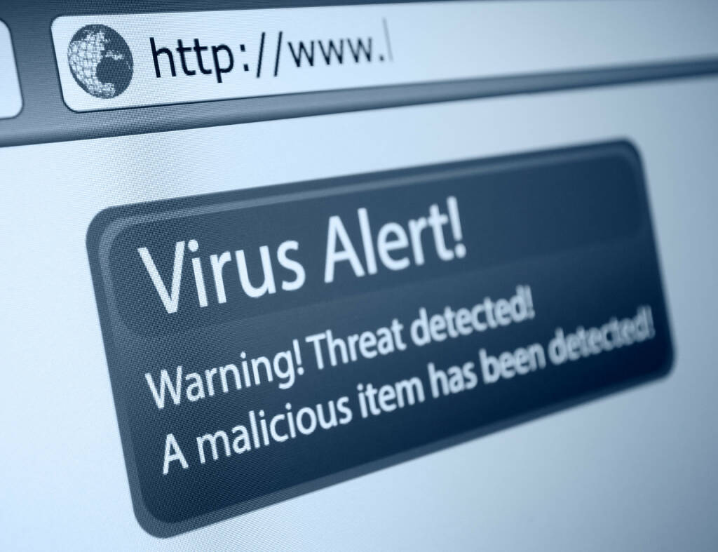 Virus, Alert, warning, malicious, internet, http://www.shutterstock.com/de/pic-127762841/stock-photo-closeup-of-virus-alert-sign-in-internet-browser-on-lcd-screen.html (24.07.2014)