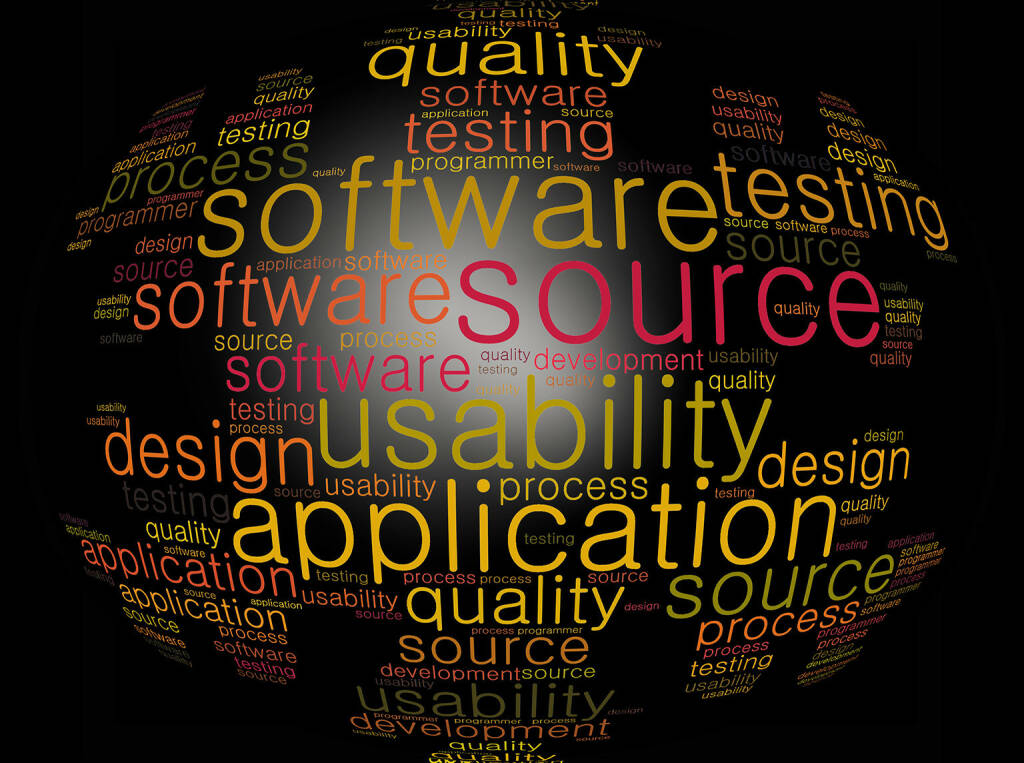Software, Source, Application, Usability, Design, http://www.shutterstock.com/de/pic-177987131/stock-photo-software-word-cloud.html (24.07.2014)