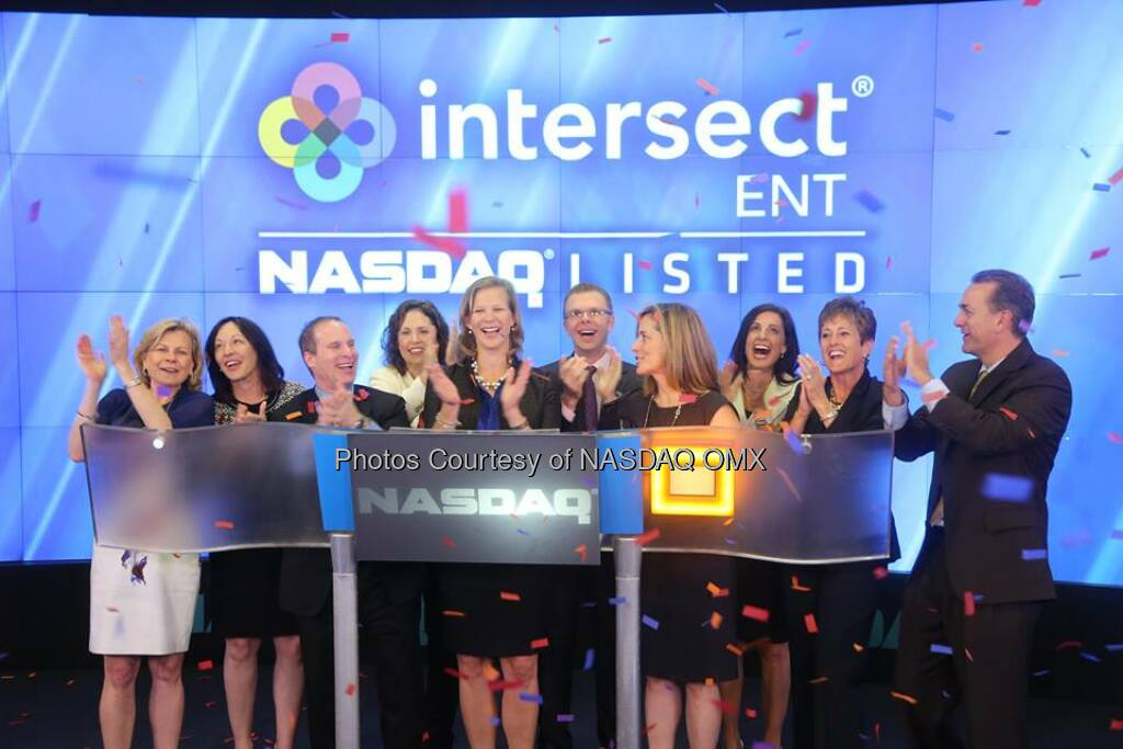 Great photos of Intersect ENT celebrating its #IPO by ringing the #NASDAQ Opening Bell! #dreamBIG $XENT  Source: http://facebook.com/NASDAQ (24.07.2014)