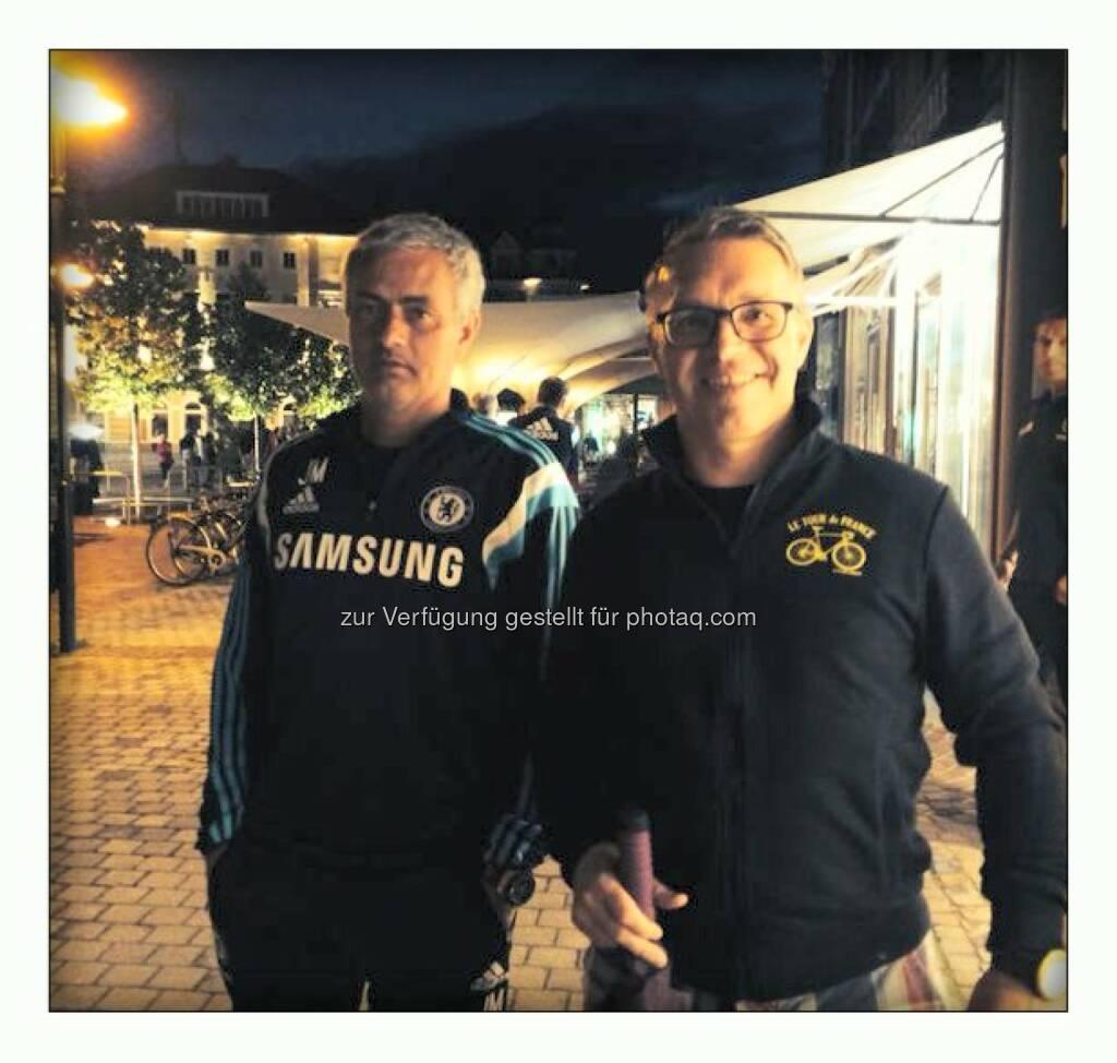 Jose Mourinho, Alfred Reisenberger (zugeschickt von Alfred Reisenberger, Valartis, aus Velden), © Aussendung (25.07.2014)