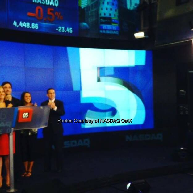 Legendary ring announcer Michael Let's Get Ready to Rumble Buffer rings the #NASDAQ Closing Bell on behalf of The Madison Square Garden Company $MSG  Source: http://facebook.com/NASDAQ (26.07.2014)