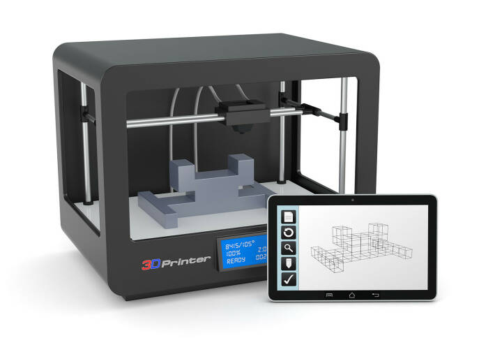 3D Drucker, 3D Technologie, Tablet, CAD Software http://www.shutterstock.com/de/pic-175520168/stock-photo-one-d-printer-with-a-tablet-pc-and-a-cad-software-render.html