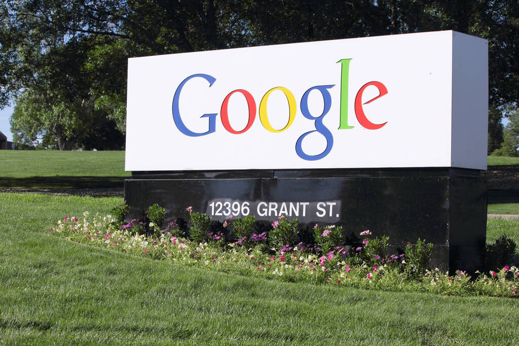 Google, 12396 Grant St., Logo <a href=http://www.shutterstock.com/gallery-1549109p1.html?cr=00&pl=edit-00>ljh images</a> / <a href=http://www.shutterstock.com/?cr=00&pl=edit-00>Shutterstock.com</a> (27.07.2014)