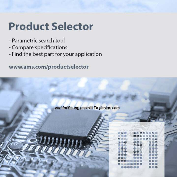 ams ProductSelector, austriamicrosystems (Bild: ams)
