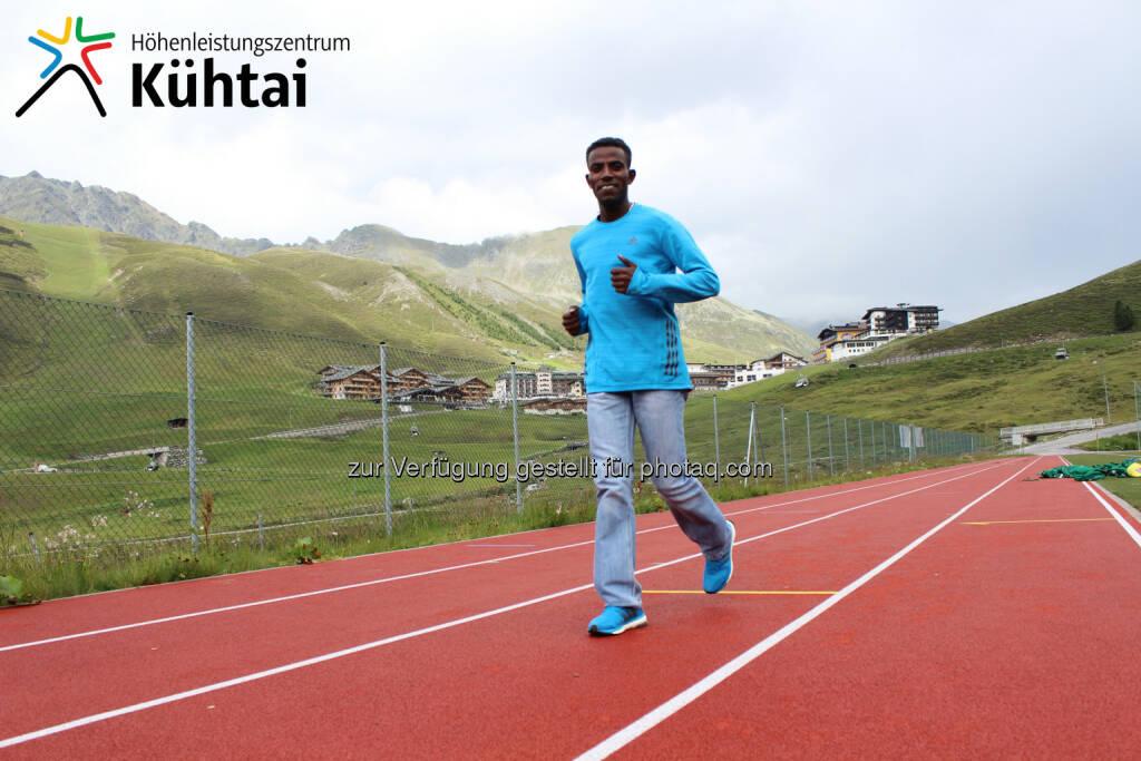 Lemawork Ketema, der Gewinner des Wings for Life Worldrun nützt das Höhentraining im Kühtai zur Vorbereitung auf anstehende Marathons und möchte sich mit einer Zielzeit von 2:14 Stunden beim Graz-Marathon für die Olympischen Spiele 2016 qualifizieren (c) Aussendung, © Aussendung checkfelix (29.07.2014)