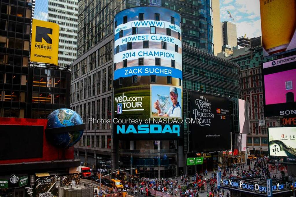 Congratulations to Zack Sucher, winner of WebDotCom Tour's 2014 Midwest Classic! #WebTour  Source: http://facebook.com/NASDAQ (29.07.2014)