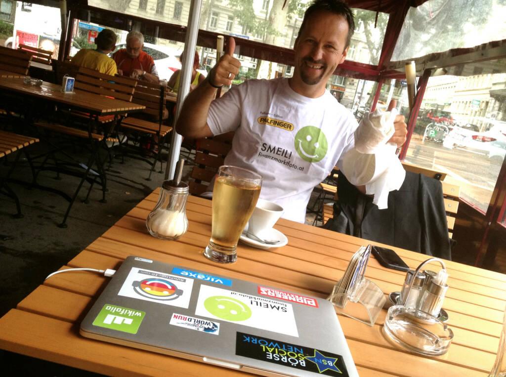 Joe Brunner, IR-World.com, Shirt in der Palfinger Kollektion (30.07.2014)