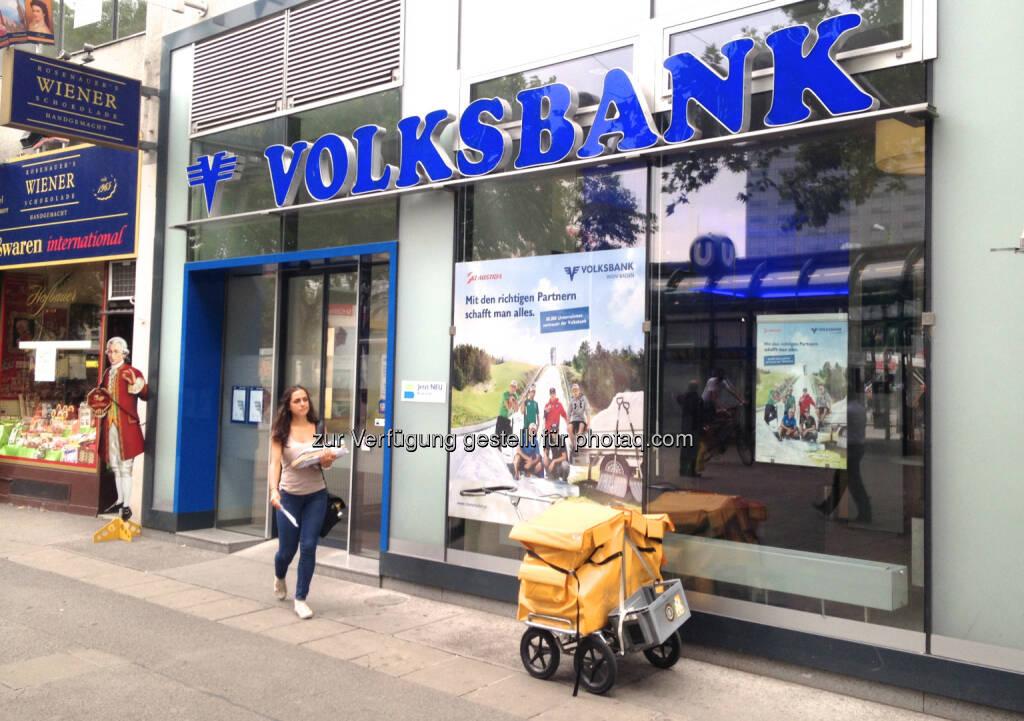 Volksbank Post, © diverse Handypics mit freundlicher Genehmigung von photaq.com-Freunden (30.07.2014)