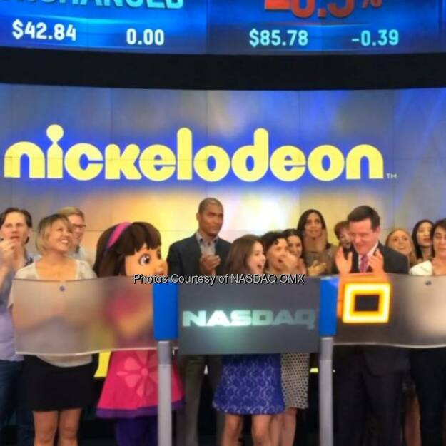 Watch @DoraTheExplorer, @FatimaPtacek ring the #NASDAQ Closing Bell to celebrate #DoraandFriends on Nickelodeon!  Source: http://facebook.com/NASDAQ (30.07.2014)
