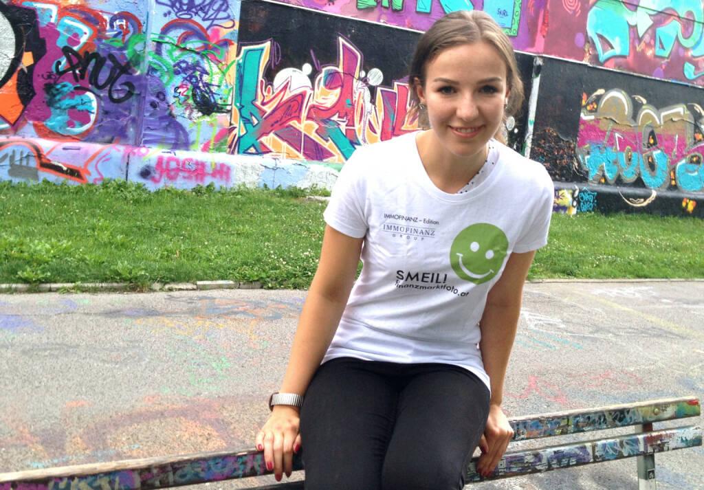 Franziska Graf, mehr unter http://photaq.com/page/index/1383 (Shirt in der Immofinanz-Kollektion) (31.07.2014)