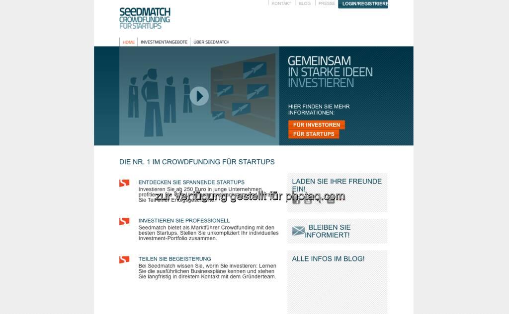 http://www.seedmatch.de/ - Präsenter ist kein Crowdfunder im deutschsprachigen Raum, siehe zB http://www.christian-drastil.com/2012/02/23/sugarshape-raist-via-seedmatch-auf-die-schnelle-mal-100-000-euro/ (14.01.2013)