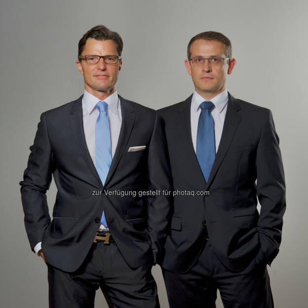 Neue Geschäftsführung bei IS Inkasso Service. Christian Kren (links), Geschäftsführer Wolfgang Affenzeller (rechts), Geschäftsführer., © Aussender (01.08.2014)