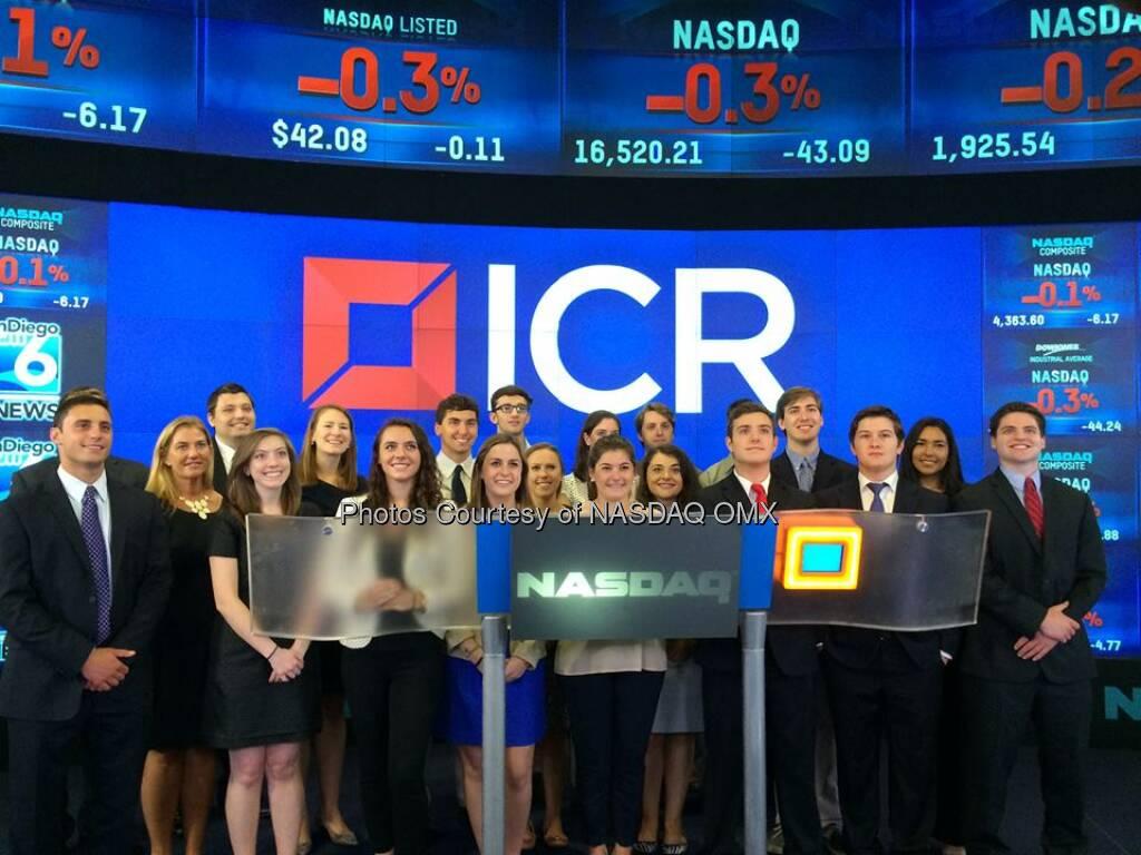 The interns of @ICRPR stop by #NASDAQ! #GreatFutures  Source: http://facebook.com/NASDAQ (01.08.2014)