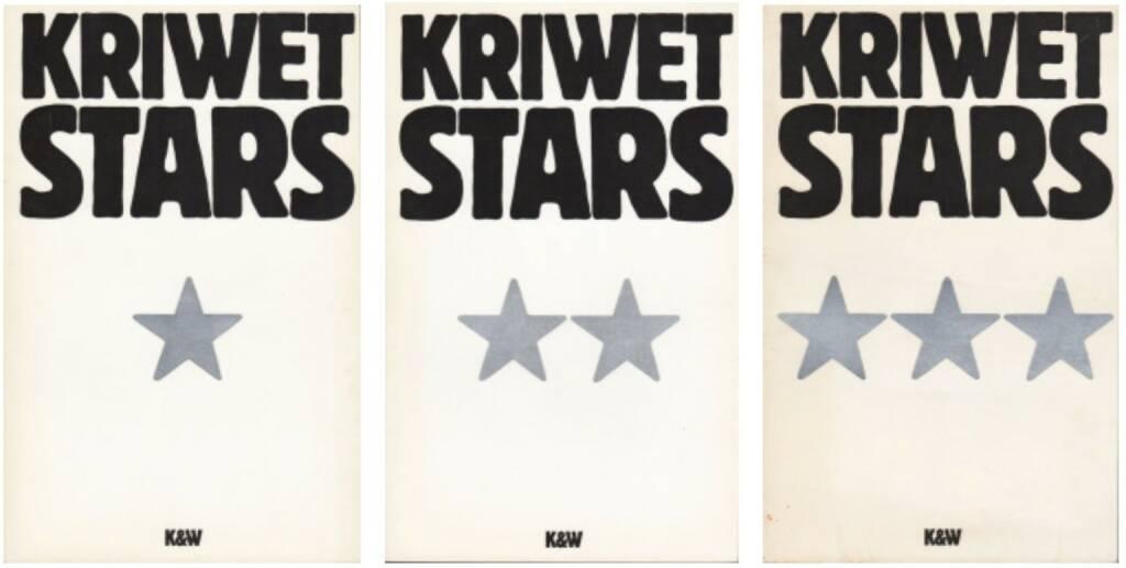 Ferdinand Kriwet - Stars Lexikon in 3 Bänden, 300-400 Euro, http://josefchladek.com/book/ferdinand_kriwet_-_stars_lexikon_in_3_banden (03.08.2014)
