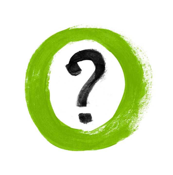 Frage, Fragezeichen - http://www.shutterstock.com/de/pic-110941199/stock-photo-green-hand-painted-question-mark-sign-icon.html?