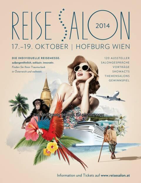 n.b.s hotels & locations GmbH: Der ReiseSalon geht online - mit seinen Ausstellern und einem neuen Gesicht, © Aussendung checkfelix (04.08.2014)