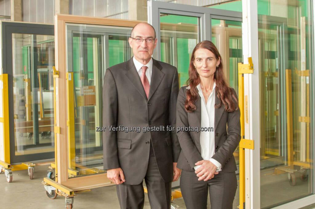 Neue Geschäftsführung in der Gaulhofer Industrieholding: Josef Kleebinder und  Brigitte Deichstätter, © Aussender (04.08.2014)