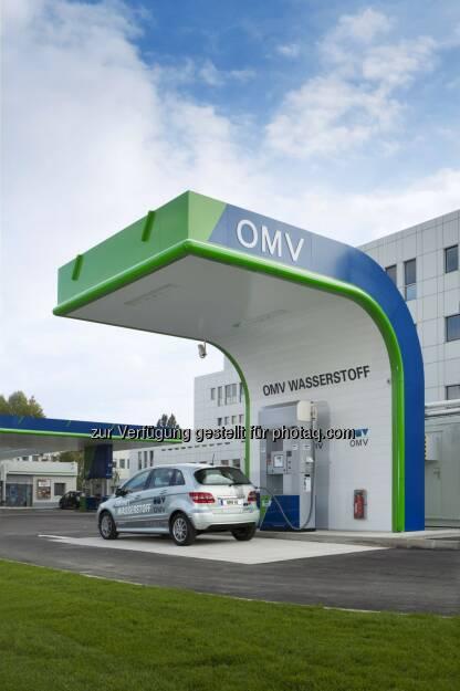 OMV Aktiengesellschaft: Erste öffentliche Wasserstofftankstelle Österreichs. OMV Shuttleworthstrasse, © Aussendung (04.08.2014)