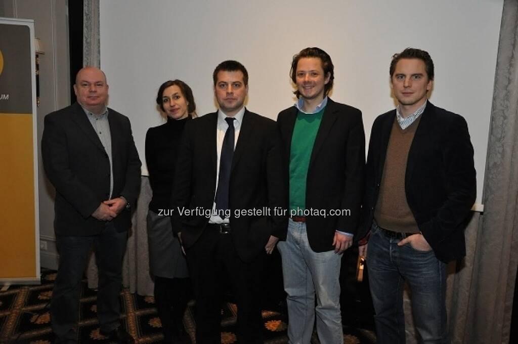Martin Sturm, Alice Vadrot, Michael Pock, Patrick Glaser, Peter Jurik - das Liberale Forum hat am 12. Jänner das neue Wiener Landespräsidium gewählt (15.01.2013)