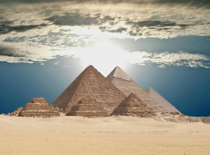 Kairo, Ägypten, Pyramiden von Gizeh, Wüste, http://www.shutterstock.com/de/pic-123111895/stock-photo-pyramids-in-giza.html