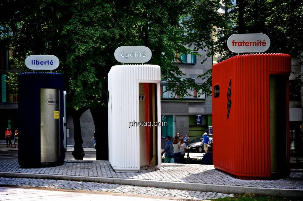 liberté, égalité, fraternité, Frankreich, Klo, Toilette, © teilweise www.shutterstock.com (06.08.2014)