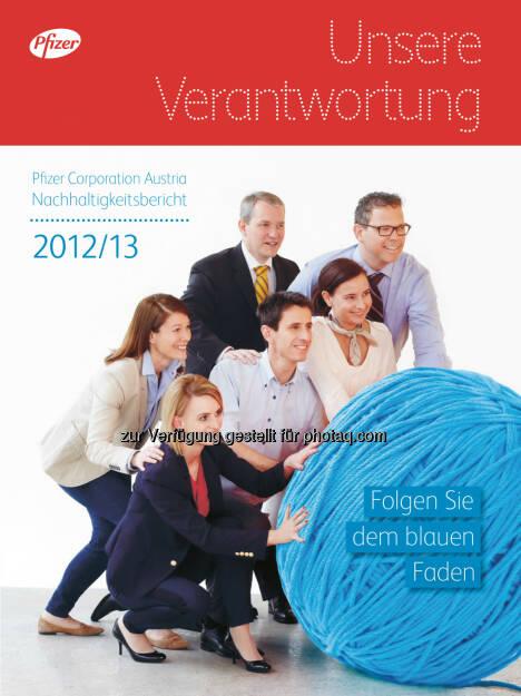 Pfizer Corporation Austria: Pfizer Österreich veröffentlicht dritten Nachhaltigkeitsbericht, © Aussender (06.08.2014)