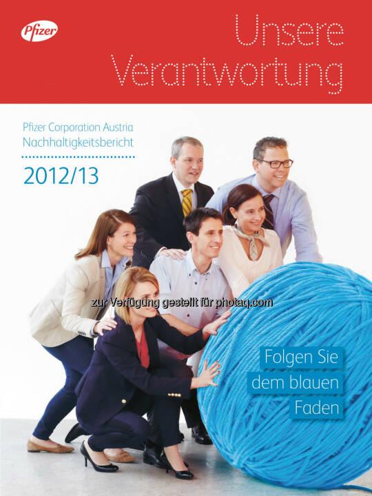 Pfizer Corporation Austria: Pfizer Österreich veröffentlicht dritten Nachhaltigkeitsbericht