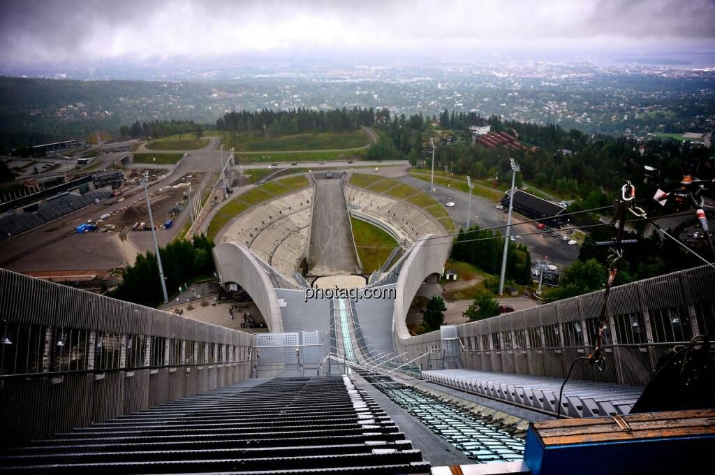Holmenkollen, Oslo, Anlauf, Schanze, Stadion, © photaq.com (07.08.2014)
